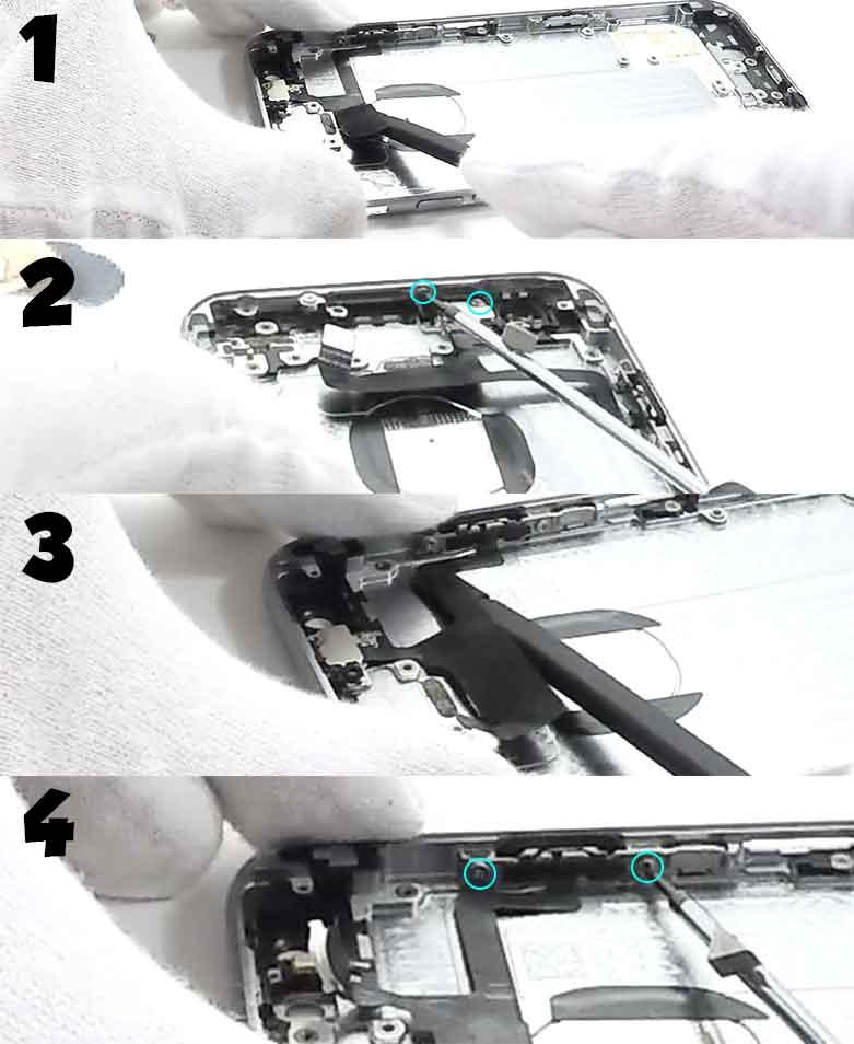 cambiar el chasis de iphone 6